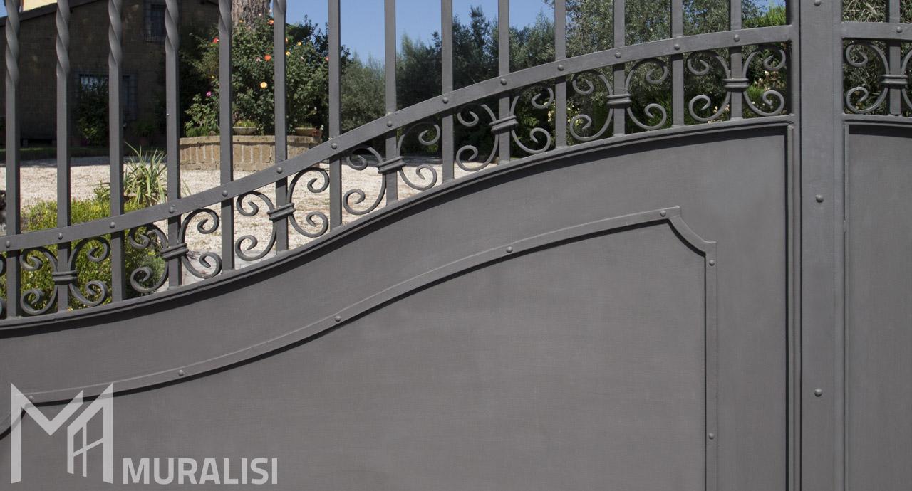 Cancelli cancelletti e recinzioni in ferro muralisi for Cancelli ferro battuto foto