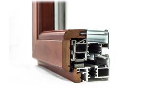 Dettaglio alluminio legno