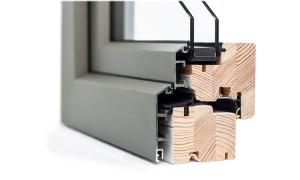 Dettaglio legno alluminio esterno