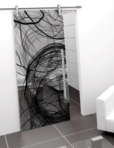 Porte in vetro scorrevoli Laborvetro – Graffi di colore BU