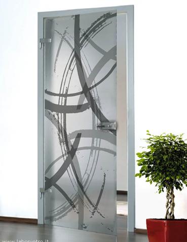Porta in vetro da interno Laborvetro – Graffi di colore DQ