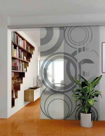 Porte scorrevoli in vetro Laborvetro – Tripudio di forme FD
