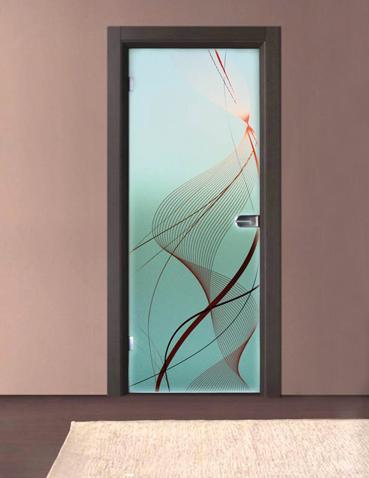 Porta in vetro anta singola Laborvetro – Tripudio di forme BG