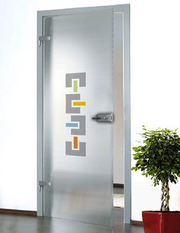 Porta in vetro da interno Laborvetro – Tripudio di forme CC